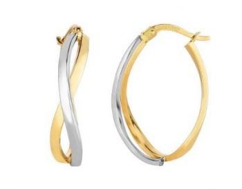 Bluestone Jewelry, Royal Chain Group Gold Earrings