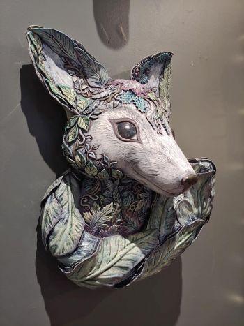 "Benko Art Gallery, ""Forest Fox"" Ceramic Sculpture"