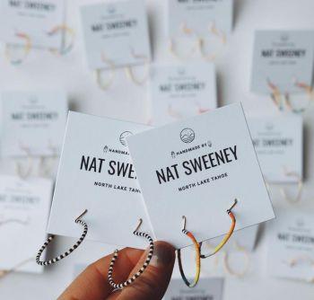 Coalition Snow, Nat Makes Things | Beaded Hoop Earrings