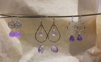 The Trunk Show, New Amethyst Earrings by Bella Petunia