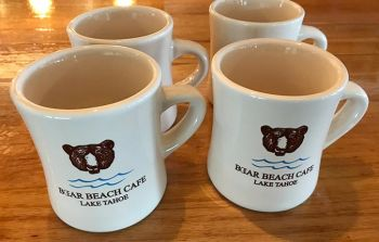 Welcome to Bear Beach Cafe, South Lake Tahoe, Bear Beach Coffee Mugs