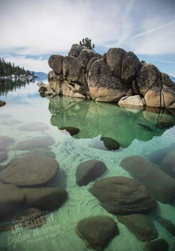"Benko Art Gallery, ""Rocks Beneath Crystal Water"" Canvas Print"