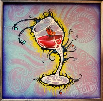 "Benko Art Gallery, ""Drunk Butterfly"" Original Painting"