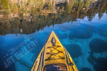 Benko Art Gallery, Kayak Overview Canvas Print