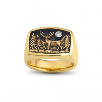 Steve Schmier's Jewelry, Deer Ring