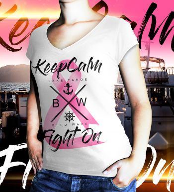 Bleu Wave Cruises, Keep Calm & Fight On Tee