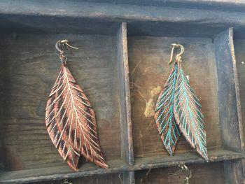 Wildwood Makers Market, Bella Drops Leather Earings