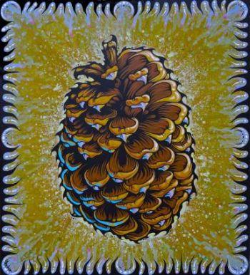 Benko Art Gallery, Jeffery Pine Cone Canvas Print