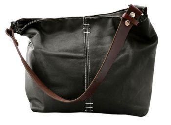 Riverside Art Studios, Small Cinder Leather Shoulder Bag