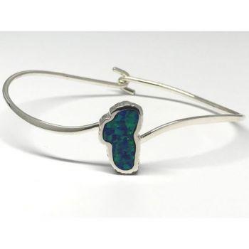 Bluestone Jewelry, Lake Tahoe Bracelet with Lab Grown Opal in Silver