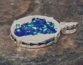 Bluestone Jewelry & Wine, Lake Tahoe/Bear Opal Reversible Pendant
