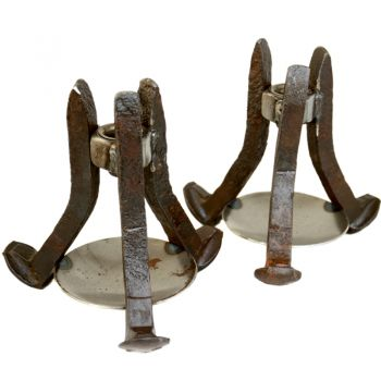 Riverside Art Studios, Rail Spike Candle Holders