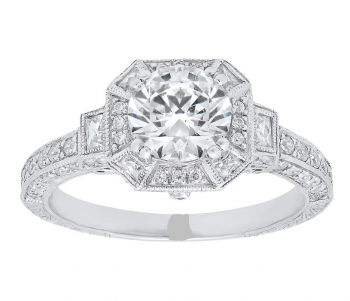 Engagement Ring, Platinum, Ring, Diamond