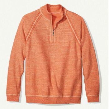 Sidestreet Boutique, Sandy Bay Reversible Half-Zip Sweater