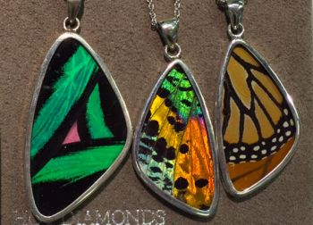 Bluestone Jewelry & Wine, Butterfly Pendants