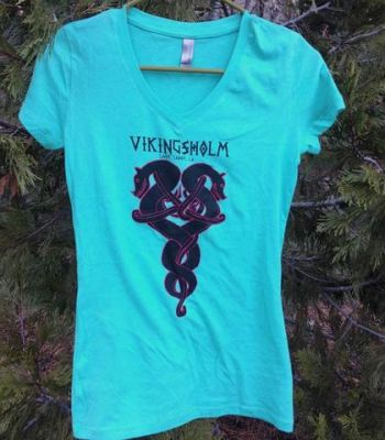 Sierra State Parks Foundation, Women's Vikingsholm Dragon V-Neck T-Shirt
