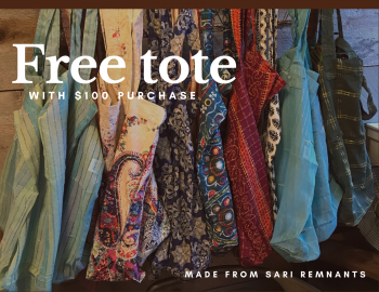 Ginger Threads Collections, Free tote with $100 purchase