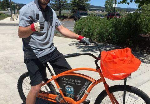 Truckee Tahoe Airport, Complimentary Cruiser Bikes