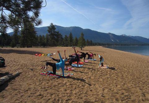 Lake Tahoe Yoga, Beach Yoga
