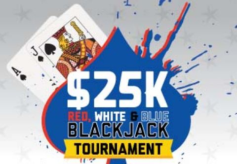 Hard Rock Hotel & Casino, $25 Red, White & Blue Blackjack Tournament