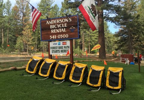 Anderson's Bicycle Rental, Bike Trailer Rentals