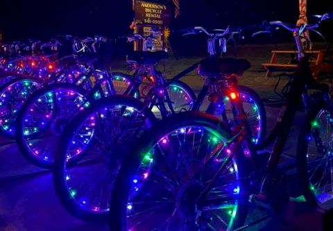 Anderson's Bicycle Rental, LED Night Rider Bikes