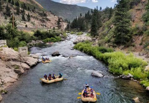 Raft California, Truckee River