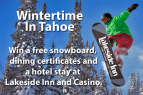 Lakeside Inn and Casino, Wintertime In Tahoe
